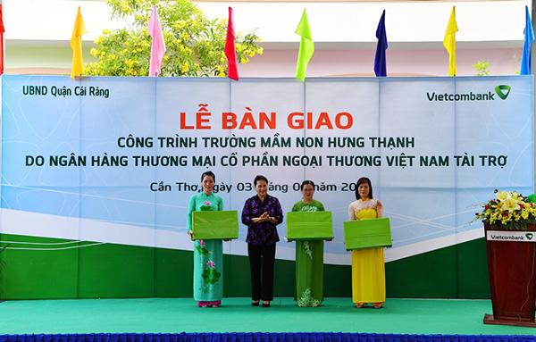 Vietcombank tài trợ 5 tỷ đồng xây dựng Trường Mầm non Hưng Thạnh - Ảnh minh hoạ 3
