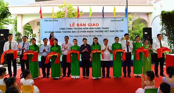 Vietcombank tài trợ 5 tỷ đồng xây dựng Trường Mầm non Hưng Thạnh