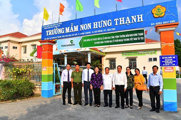 Vietcombank tài trợ 5 tỷ đồng xây dựng Trường Mầm non Hưng Thạnh - Ảnh minh hoạ 5