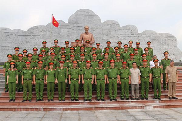 Trường Trung cấp Cảnh sát vũ trang báo công tại Khu Di tích lịch sử Nhã Nam
