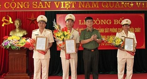 Sáp nhập Cảnh sát PCCC vào Công an tỉnh Thái Nguyên