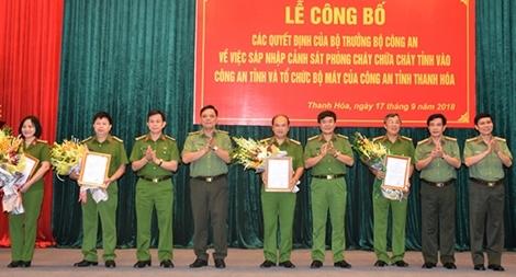 Sáp nhập Cảnh sát PCCC vào Công an tỉnh Thanh Hóa