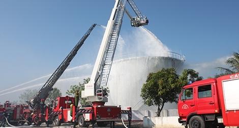 Công an Nghệ An tập huấn nghiệp vụ phòng cháy, chữa cháy
