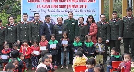 Thanh niên Công an tỉnh Lào Cai chung tay ủng hộ xây dựng nông thôn mới