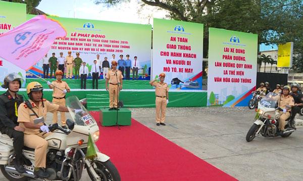 Các địa phương ra quân thực hiện năm an toàn giao thông 2019