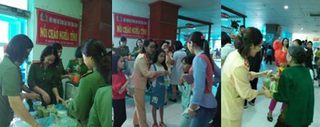 Công an tỉnh Thái Bình: Nồi cháo từ thiện - ấm lòng người bệnh