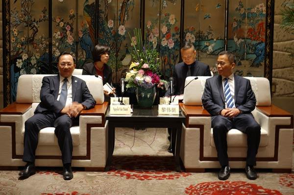 Thứ trưởng Nguyễn Văn Thành thăm Công an TP Ninh Ba (Trung Quốc)