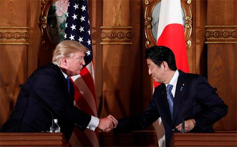 Tổng thống Donald Trump thăm Nhật: Khó ra tuyên bố chung