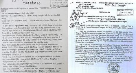 Công an Đắk Nông được người dân gửi nhiều thư khen