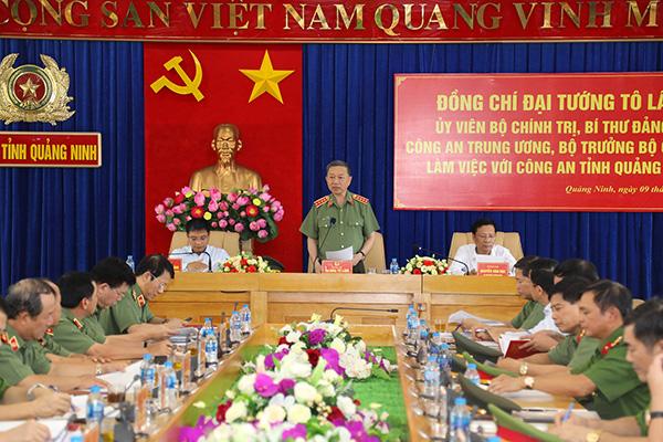 Bộ trưởng Tô Lâm làm việc với Công an tỉnh Quảng Ninh - Ảnh minh hoạ 3