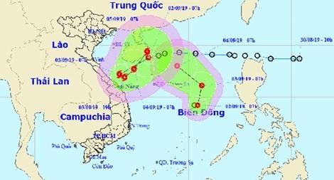 Công điện của Bộ Công an về việc ứng phó với 2 áp thấp nhiệt đới
