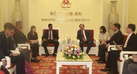 Thứ trưởng Nguyễn Văn Thành tiếp đoàn đại biểu Cảnh sát Sri Lanka