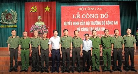 Công bố quyết định của Bộ trưởng Bộ Công an về công tác cán bộ tại Thái Bình