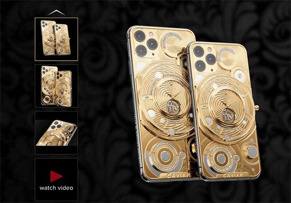 """Choáng váng chiếc siêu điện thoại """"độ"""" nửa ký vàng và 137 viên kim cương"""