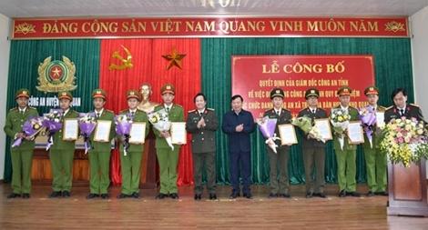 Điều động Công an chính quy về địa bàn xã thuộc huyện Nho Quan