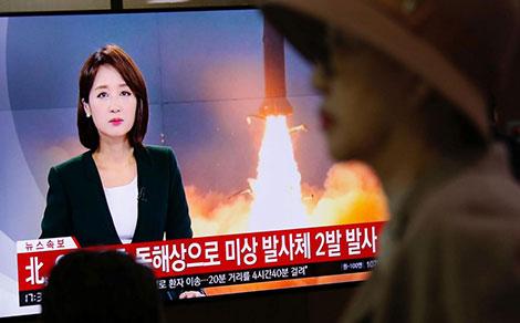 Truyền thông Hàn Quốc đưa tin về vụ thử tên lửa của CHDCND Triều Tiên.