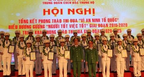 Tôn vinh 30 điển hình tiên tiến của lực lượng CSCĐ Bắc Trung Bộ