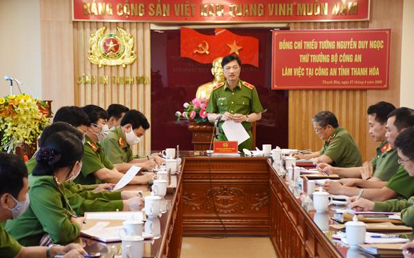 Thứ trưởng Nguyễn Duy Ngọc làm việc tại Công an Thanh Hóa - Ảnh minh hoạ 2