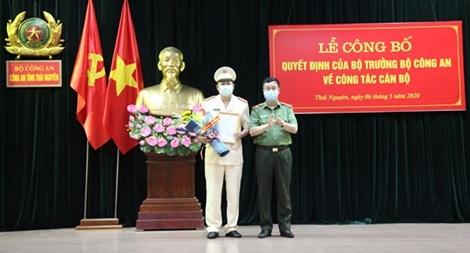 Đại tá Dương Đình Thành làm Phó Giám đốc Công an tỉnh Thái Nguyên