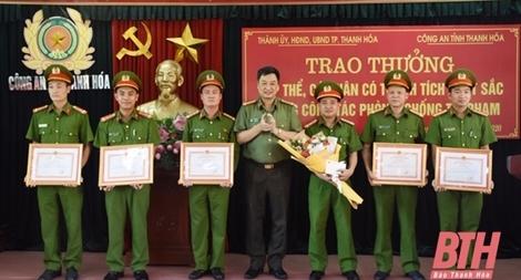 Khen thưởng Công an TP Thanh Hóa về thành tích đấu tranh phòng, chống tội phạm