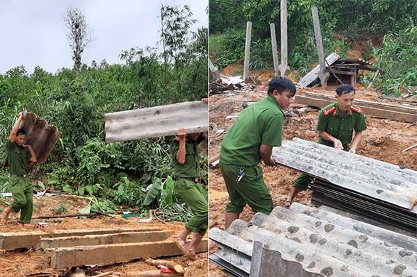Công an Quảng Trị xuống xã giúp dân khắc phục hậu quả mưa lụt - Ảnh minh hoạ 4