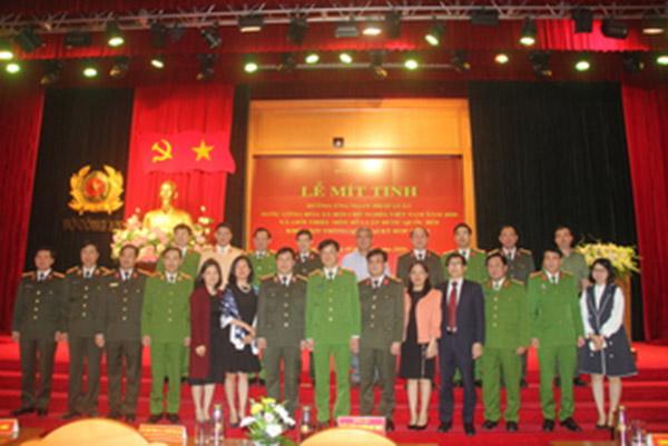 Bộ Công an tổ chức mít tinh hưởng ứng Ngày Pháp luật Việt Nam