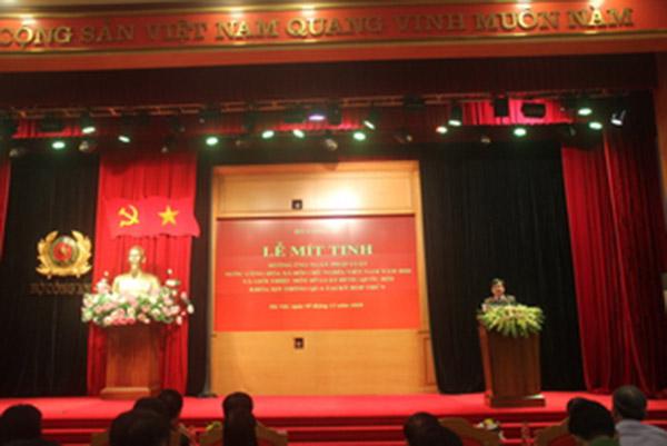 Bộ Công an tổ chức mít tinh hưởng ứng Ngày Pháp luật Việt Nam - Ảnh minh hoạ 3