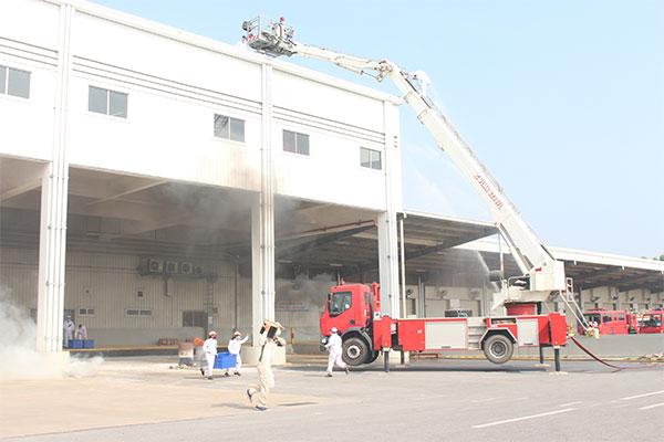 Diễn tập quy mô lớn chữa cháy và cứu nạn cứu hộ tại Công ty Honda Việt Nam - Ảnh minh hoạ 6