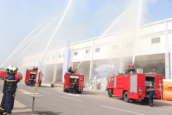 Diễn tập quy mô lớn chữa cháy và cứu nạn cứu hộ tại Công ty Honda Việt Nam - Ảnh minh hoạ 7
