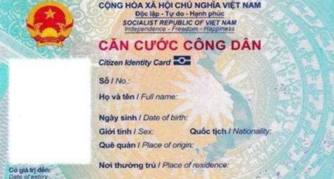 Mẫu thẻ Căn cước công dân gắn chip điện tử