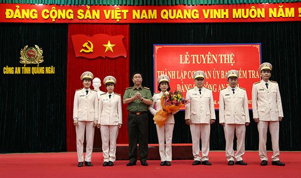 Thành lập Ủy ban Kiểm tra Đảng ủy Công an tỉnh Quảng Ngãi