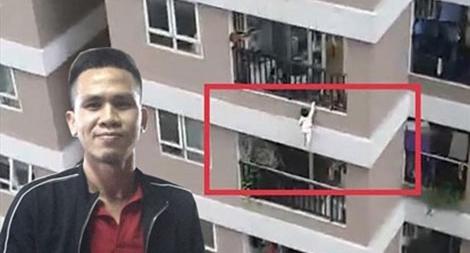 Vì sao cháu bé trèo qua được lan can tầng 12 chung cư?