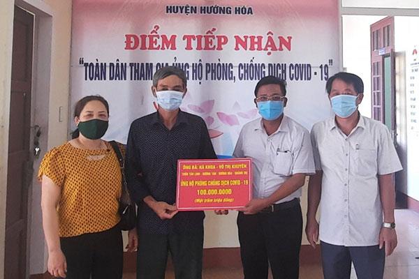 Một hộ nông dân ở miền núi ủng hộ 100 triệu đồng phòng, chống dịch COVID-19