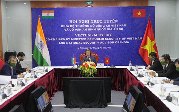 Củng cố mối quan hệ hợp tác giữa Bộ Công an Việt Nam - Hội đồng An ninh quốc gia Ấn Độ