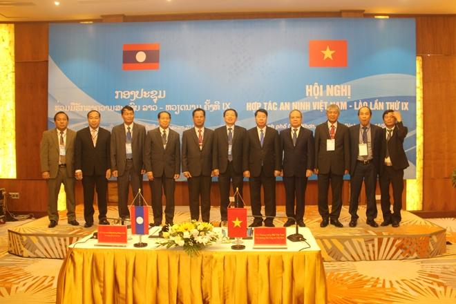 Hội nghị hợp tác an ninh Việt Nam - Lào lần thứ IX