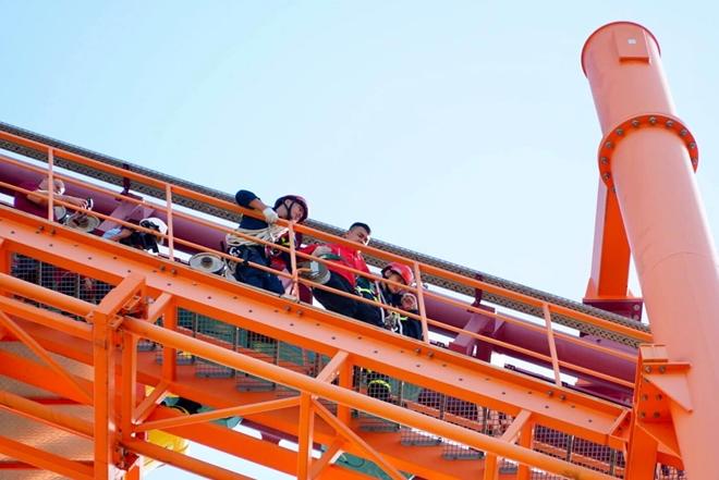 Diễn tập cứu nạn ở điểm vui chơi cao 40m - Ảnh minh hoạ 5