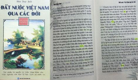 """Tái bản sách """"Đất nước Việt Nam qua các đời"""" của học giả Đào Duy Anh: Lỗi nhiều như trấu"""