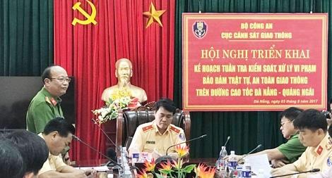 Đảm bảo ATGT trên cao tốc Đà Nẵng – Quảng Ngãi