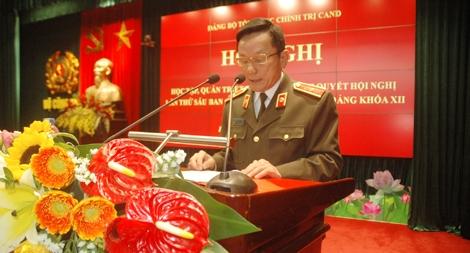 Đảng bộ Tổng cục Chính trị CAND quán triệt Nghị quyết Hội nghị TƯ 6 (khóa XII)
