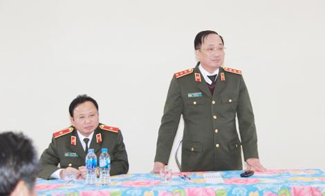 Thứ trưởng Nguyễn Văn Thành kiểm tra tiến độ công trình Khu lưu niệm 6 điều Bác Hồ dạy CAND