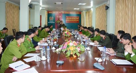 Thứ trưởng Nguyễn Văn Sơn làm việc với Công an tỉnh Quảng Ninh