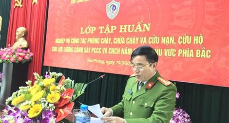 Tập huấn nghiệp vụ PCCC& CNCH cho lực lượng Cảnh sát PCCC khu vực phía Bắc