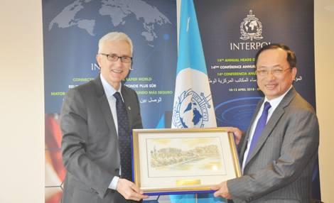 Bộ Công an Việt Nam đặc biệt coi trọng việc phát triển quan hệ hợp tác với Interpol