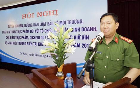 Tập huấn Luật bảo vệ TNMT và Luật ATTP tại Đồ Sơn