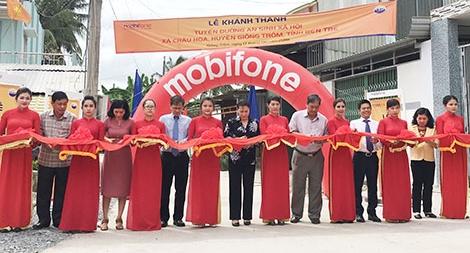 Khánh thành tuyến đường ASXH tại xã Châu Hòa, huyện Giồng Trôm, Bến Tre