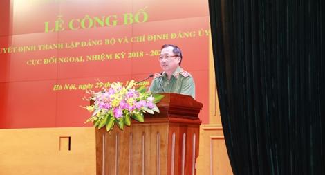 Công bố Quyết định thành lập Đảng bộ và chỉ định Đảng ủy Cục Đối ngoại