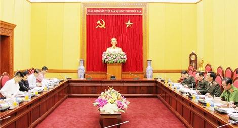 Đảng ủy Công an Trung ương làm việc với Ban Tổ chức Trung ương về Quy định tổ chức Đảng trong CAND