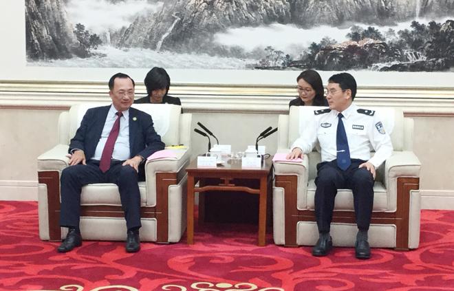Thứ trưởng Nguyễn Văn Thành thăm Công an tỉnh Quảng Đông, Trung Quốc