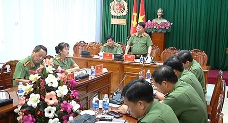 Thượng tướng Bùi Văn Nam làm việc với Công an Đồng Nai