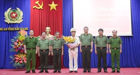 Công bố quyết định bổ nhiệm chức vụ Phó giám đốc Công an tỉnh Bắc Giang